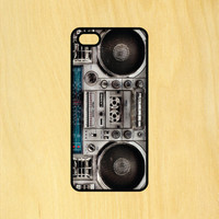 Boombox Music Phone Case iPhone 4 / 4s / 5 / 5s / 5c /6 / 6s /6+ Apple Samsung Galaxy S3 / S4 / S5 / S6