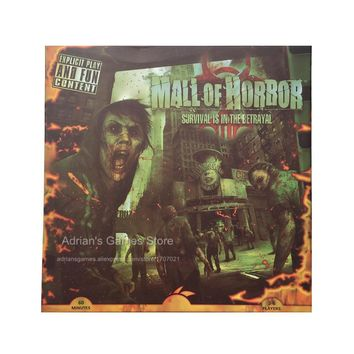 Mall of Horror Board Games Zombies Survival Game 3-6 Players 60min Age14+ Zombie Jeu de Societe