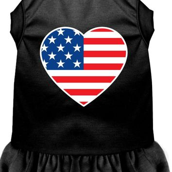 American Flag Heart Screen Print Dress Black Xl (16)