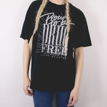 Vintage Proud To Be Drug Free T Shirt