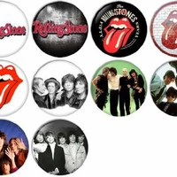 The Rolling Stones Pinback Buttons Badges/Pin 1 Inch (25mm) Set of 10 New