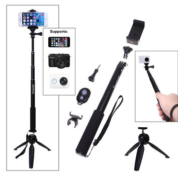 Bluetooth Camera Remote Shutter+Holder+Selfie Stick Tripod Monopods For iPhone 6S 6 5C For Sony Z Z1 Z3 Z2 E3 C5 MINI For Gopro