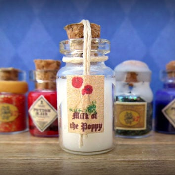 "A Game of Thrones ""Milk of the Poppy"" Potion Bottle: Geekery from the Seven Kingdoms in Dollhouse Miniature"
