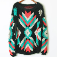 FASHION GEOMETRIC FLOWER SWEATER