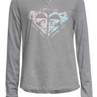 Roxy Heritage Girls Tee Grey  In Sizes