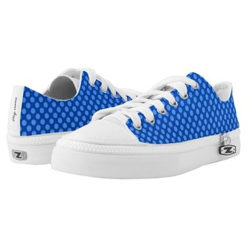 Blue spotted design Low-Top sneakers