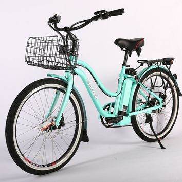 X-Treme Malibu Elite Max 36 Volt Electric Beach Cruiser Bicycle Bike Teal
