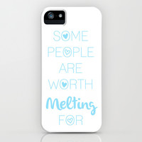 Frozen: some people are worth MELTING for iPhone & iPod Case by KrashDesignCo.