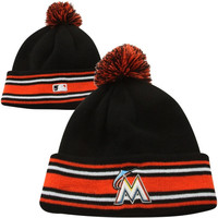 New Era Miami Marlins 2014 Authentic Collection Sport Knit - Black
