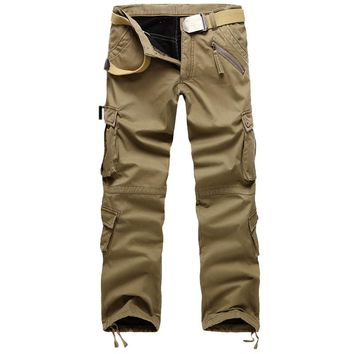 Men's Tactical Military Style Fleece Lined Cargo Pants