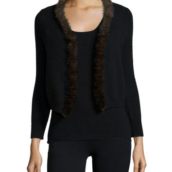 BLACK/CHOCOLATE - Neiman Marcus Cashmere Collection