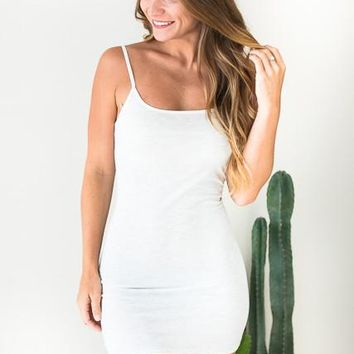 When You Need It Off White Slip Dress