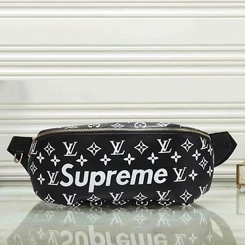 Louis Vuitton X Supreme Men Leather Purse Waist Bag Single-Shoulder Bag Crossbody