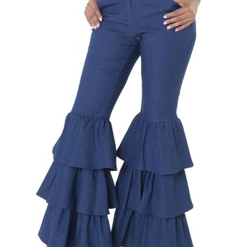 For Her 8640 Tier Bell Bottom Pant
