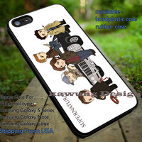 Supernatural Characters Color Drawing iPhone 6s 6 6s+ 5c 5s Cases Samsung Galaxy s5 s6 Edge+ NOTE 5 4 3 #movie #supernatural #superwholock #sherlock #doctorWho dt