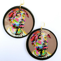 Tupac Technodrome Earrings