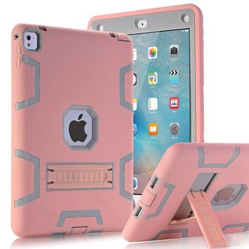 """WEFOR Shock Resistant High Impact Hybrid Kickstand Heavy Duty Armor Defender Full Body Protective Case For iPad Pro 9.7"""""""