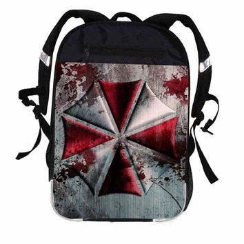 Printing Backpack Umbrella Corporation Resident Evil Women Men Causul Boys Girls School Bags Hip Hop Male Laptop mochila Kpop