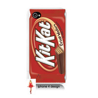 Kit Kat Candy iphone 4  cell phone case, Iphone case, Iphone 4s case, Iphone 4 cover, i phone case, i phone 4s case