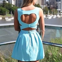 HEART CUT OUT DRESS , DRESSES, TOPS, BOTTOMS, JACKETS & JUMPERS, ACCESSORIES, 50% OFF SALE, PRE ORDER, NEW ARRIVALS, PLAYSUIT, COLOUR, GIFT VOUCHER,,Blue,CUT OUT,BACKLESS,SLEEVELESS Australia, Queensland, Brisbane