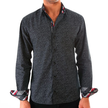 Brighton Black Paisley Shirt Slim