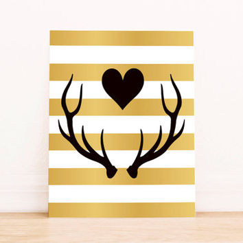 Nursery wall art print Printable Deer Wall art Decor Deer illustration nursery decoration quotes bear valentines print Deer INSTANT DOWNLOAD