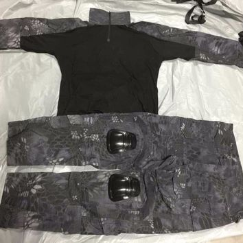 Kryptek Typhon Gen3 Combat Uniform Tactical Gear shirt and Pants Army BDU Set Hunting Paintball Clothes