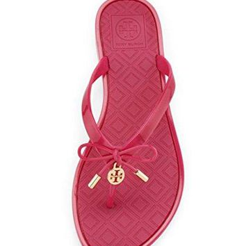 Tory Burch Jelly Flip Flops Shoes Sandals Flat