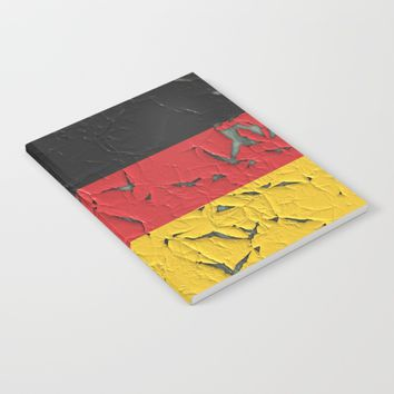 Old Germany flag Notebook by ARTPICS