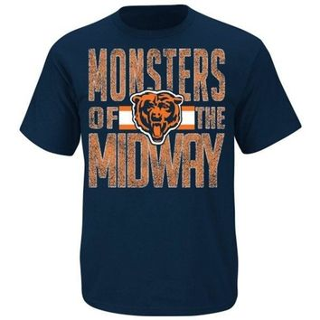 Chicago Bears Fantasy Leader II T-Shirt - Navy Blue