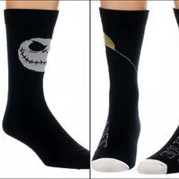 The Nightmare Before Christmas Costume Crew Socks 2-PAIRS Licensed 2-PACK NEW