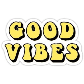 'good vibes tumblr, aesthetic, yellow' Sticker by maddie ❄️
