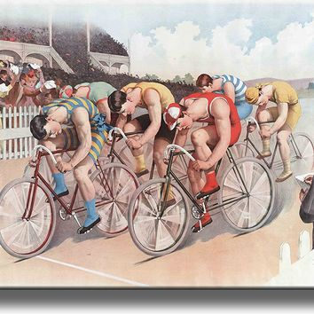 Bike Bicycle Vintage Picture Made on Acrylic Wall Art Decor Ready to Hang!.
