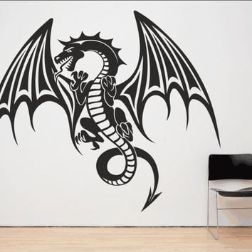 Spitfire Dragon Wall Decal Mythical Vinyl Houseware Stickers For Kids Room Art Mural Special Animal Home Decor Pattern  SYY506