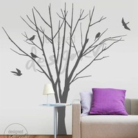 Winter Tree with Birds LARGE set  Removable by designedDESIGNER