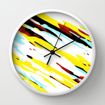 Trippy Panda 8 Wall Clock by HappyMelvin Graphicus