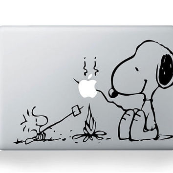 Snoopy cooking  Mac Decal Mac Stickers Macbook by GreatSticker