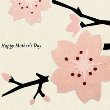 Cherry Blossom Mother's Day Handmade Card