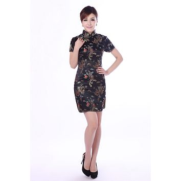 Shanghai Story mandarin collar Chinese dress phoenix plum blossom pattern Cheongsam traditional Oriental dress 13 design