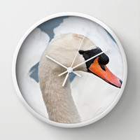 Beautiful Swan Wall Clock by Karl Wilson Photography