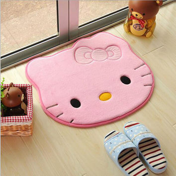 Bath Mats Hello Kitty Memory Foam Bath Mats Bathroom Rug Non-slip Bath Mats 51*57cm - - *FREE SHIPPING*