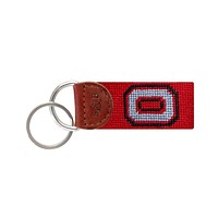 Ohio State University Needlepoint Key Fob in Red by Smathers & Branson