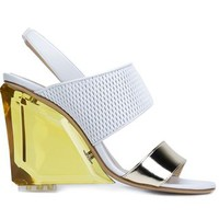 Monique Lhuillier Sling Back Chunky Heel Sandals - Monique Lhuillier - Farfetch.com