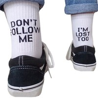 """DON'T FOLLOW ME"" Socks"