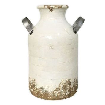 Sonoma Goods For Life??farmhouse Milk Can Ceramic Vase