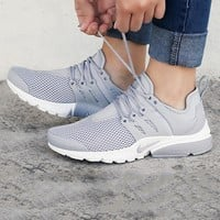 NIKE Air Presto Grey Woman Men Running Sneakers Sport Shoes