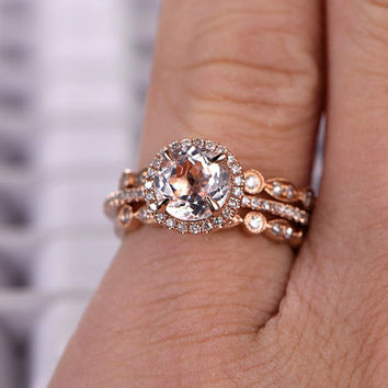 Engagement ring wedding band combo