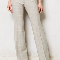 NWT ANTHROPOLOGIE ELEVENSES TARTAN BRIGHTON TWEED WIDE-LEG GRAY TROUSER PANTS 2