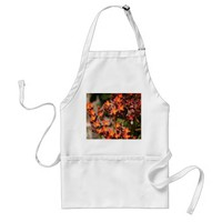 Red Orange Cactus Blossoms Adult Apron