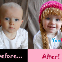 READY TO SHIP- Cabbage Patch Hat Pigtail WIg! Comes in EVERY size NEWBORN to ADULT!